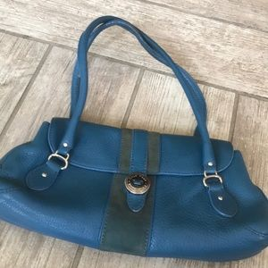 Vintage Cole Haan Small Turquoise Leather Purse